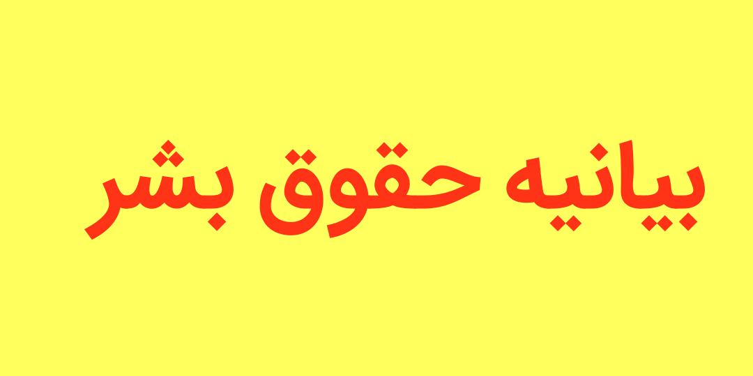 بیانیه حقوق بشر