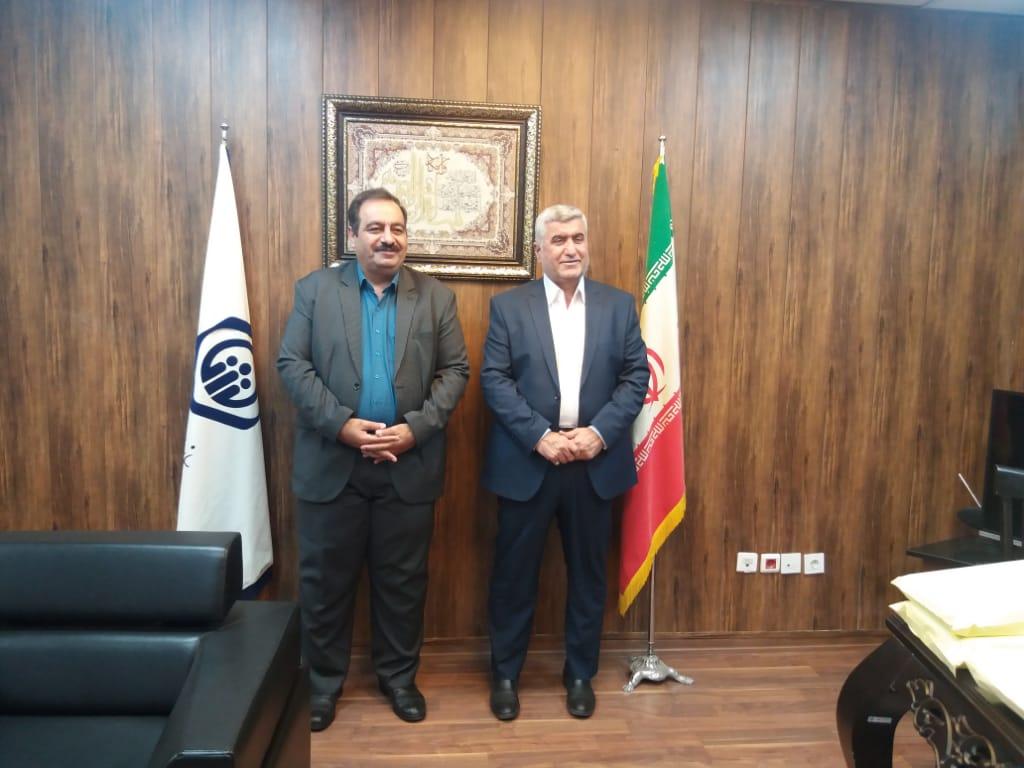 دیدار دکتر علیرضا ورناصری با مدیر کل تامین اجتماعی استان خوزستان