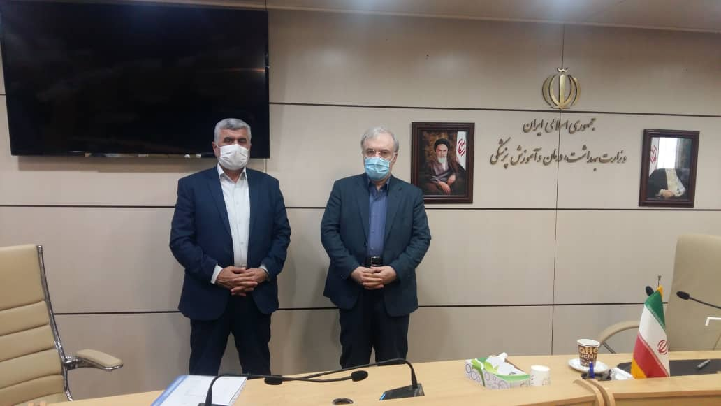 دیدار و گفتگوی دکتر علیرضا ورناصری با وزیر بهداشت به منظور بررسی مسائل و مشکلات حوزه بهداشت و درمان در منطقه