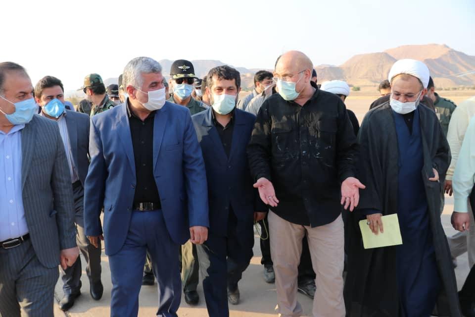 رئیس مجلس شورای اسلامی به حوزه انتخابیه مسجدسلیمان بزرگ سفر کرد