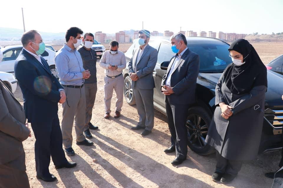 بازدید میدانی نماینده مردم در مجلس شورای اسلامی از شهرک ولیعصر (عج) و پروژه احداث جاده دوم شهرستان