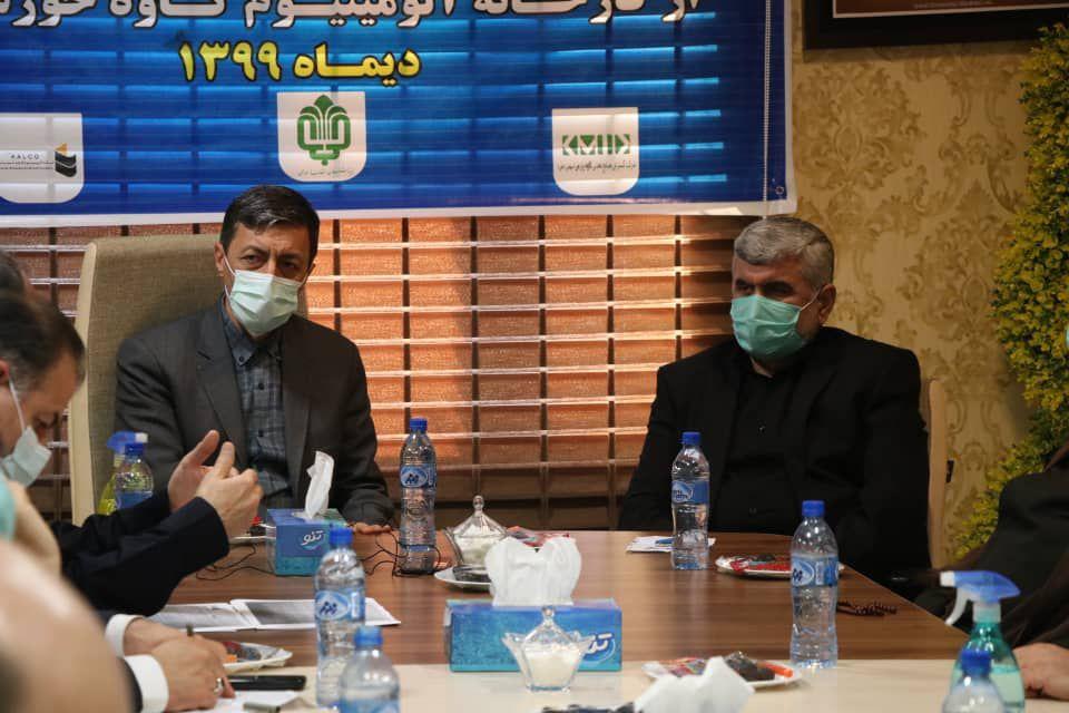 بازدید رئیس بنیاد مستضعفان از کارخانه آلومینیوم کاوه خوزستان صورت گرفت