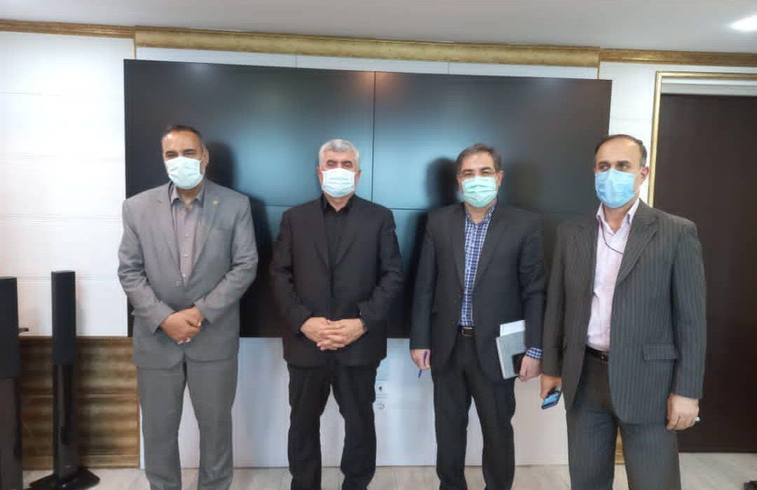 دیدار نماینده مردم مسجدسلیمان،هفتکل،لالی و اندیکا درمجلسشورای اسلامی با مدیر عامل مخابرات کشور