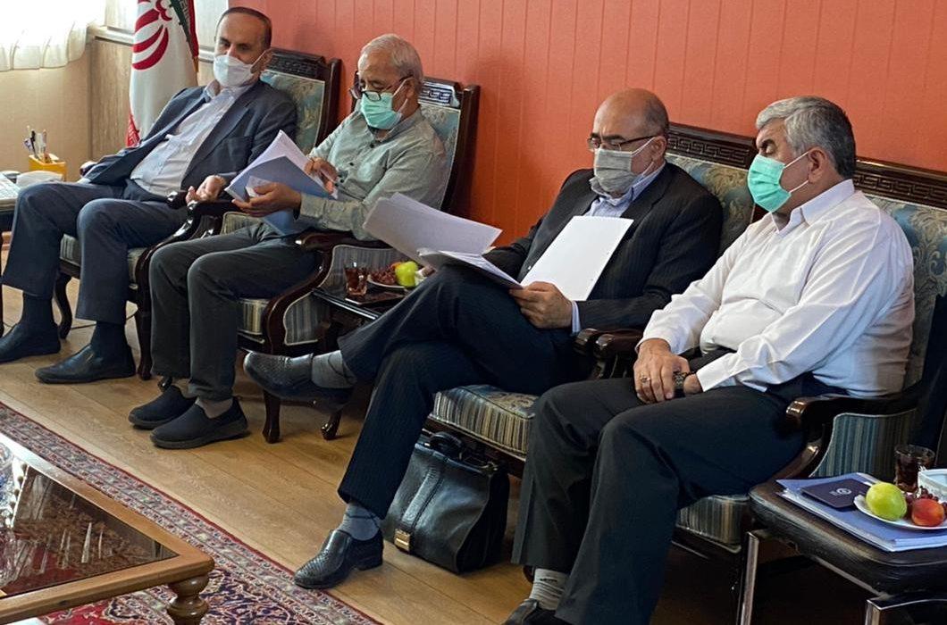 جلسه پیگیری کمیسیون اصل 90مجلس شورای اسلامی در خصوص اخرین وضعیت طرح 550هزارهکتاری مقام معظم رهبری برگزار شد